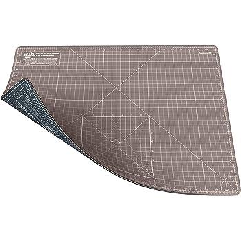 ANSIO Schneidematte Selbstheilende A2 Doppelseitige 5 Schichten sassend für Kunst, Nähen - Imperial/Metric 22.5 x 17 Zoll / 59 x 44 cm - Braun/Grau