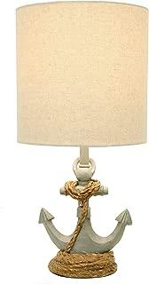 Blue Anchor Lamp Oceanic Lighting Nightstand Table Light Nautical Home Decor Bedroom Vintage Accent Coastal Beach Bedside Modern Sailing Ship