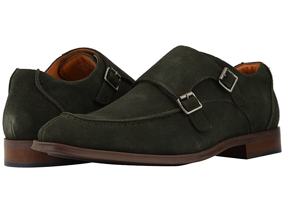 Stacy Adams Balen Double-Monk Strap Loafer (Dark Green Suede) Men