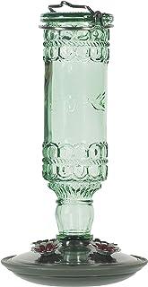Perky-Pet 8108-2 Green Antique Bottle 10-Ounce Glass Hummingbird Feeder