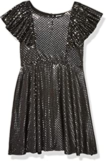 Emily West Girls' High Neck Glitter Lace Sleeveless Party Dress