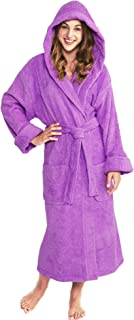 Hooded Terry Bathrobe Unisex, 100% Combed Pure Turkish Cotton, Made in Turkey …