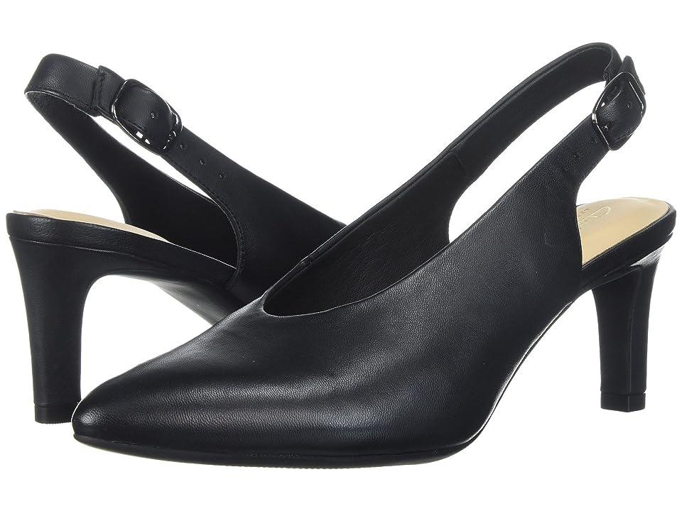 Clarks Calla Violet (Black Leather) Women