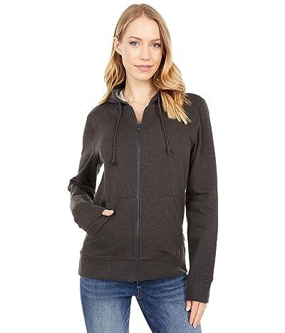 PACT Organic Cotton Classic Zip Hoodie (Charcoal) Women
