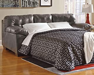 Ashley Furniture Signature Design - Alliston Contemporary Sleeper Sofa - Queen Size Mattress Included - Gray