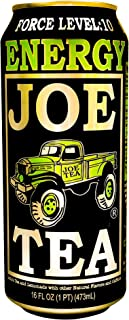 Joe Tea Energy Drink, Half Lemonade Half Tea, Non-Carbonated, High Caffeine, 16oz Cans (24 Count)