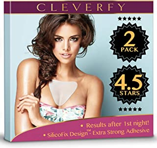 Sponsored Ad - Cleverfy Chest Wrinkle Pads Sleeping (2 Pack of V-Shape) - Decollete Anti Wrinkle Chest Pads - Silicone Che...