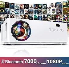 Proyector, TOPTRO 7000 Lúmenes Bluetooth Proyector Full HD 1080P Nativo 1920x1080 Soporta 4K y Dolby, Proyectores Cine en Casa con Pantalla Gigante de 350