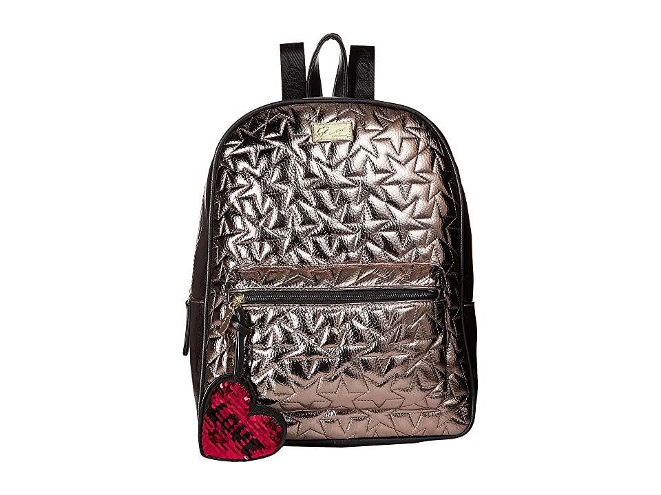 Luv Betsey Phoebe Kitch Large Backpack with Removable Wristlet (Pewter) Backpack Bags