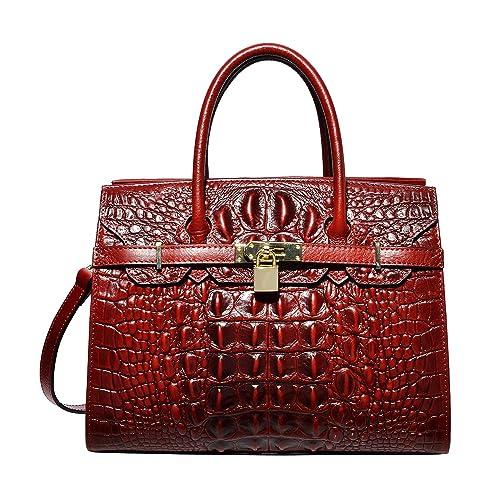 9e09fba759 PIJUSHI Women Purses And Handbags Crocodile Top Handle Satchel Bags  Designer Handbags