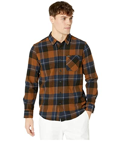 Volcom Caden Plaid Long Sleeve (Bison) Men