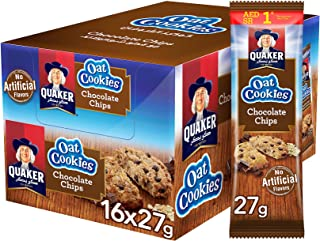Quaker Oat Cookies with Chocolate Chips, 27g, Pack of 16
