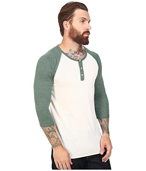 4 Henley Eco Eco Alternativo Raglan Pine Dusty 3 True Ivory 6qvfnP