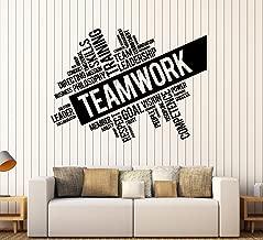 Vinyl Wall Decal Teamwork Success Office Decor Worker Stickers (ig4152) Matte Black