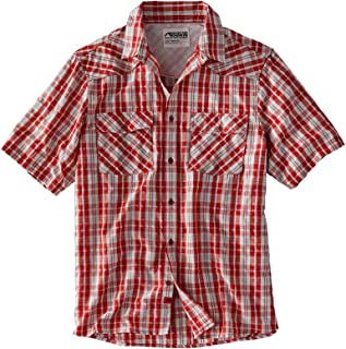 Mountain Khakis Mens Scrambler Short Sleeve Shirt: Outdoor Casual Button-Down, Engine Red