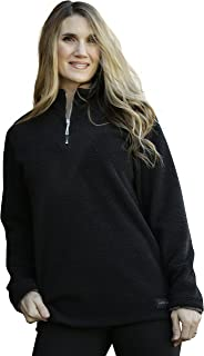 Women's Fleece Pullover Jacket, Half Zip Relaxed Fit, Women's & Plus Size