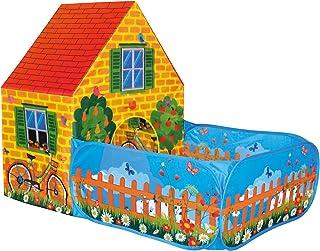 Bino lektält hus med trädgård för inomhus och utomhus leksaker för barn från 3 år (lätt rengöring, robust, vattenavvisande...