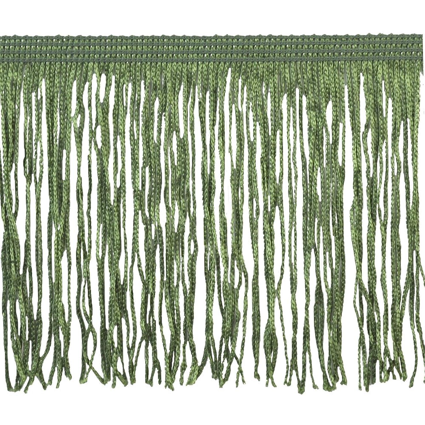 Chainette Fringe P-7044 100-Percent Polyester 4-Inch Fringe Embellishment, 10-Yard, 25 Jungle