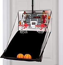 Rec-Tek Over The Door Double Shot Basketball Game for Kids - Features Automatic Scoring, No Tools Required - Complete with All Accessories