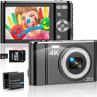 4K Appareil Photo Numérique Compact 48MP Mini Video Camera 2,8 Pouces 16X Digital Zoom Rechargeables Vlogging Appareil Pho...