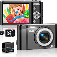 4K Digital Camera 48MP Mini Video Camera 2.8 Inch LCD 16X Digital Zoom vlogging camera Rechargeable Students Compact Camer...