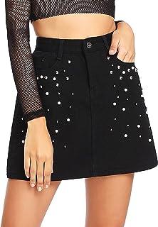 f6e78eda75db06 Amazon.fr : jeans - Jupes / Femme : Vêtements