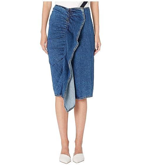 Sportmax Ariccia Denim Ruffle Skirt