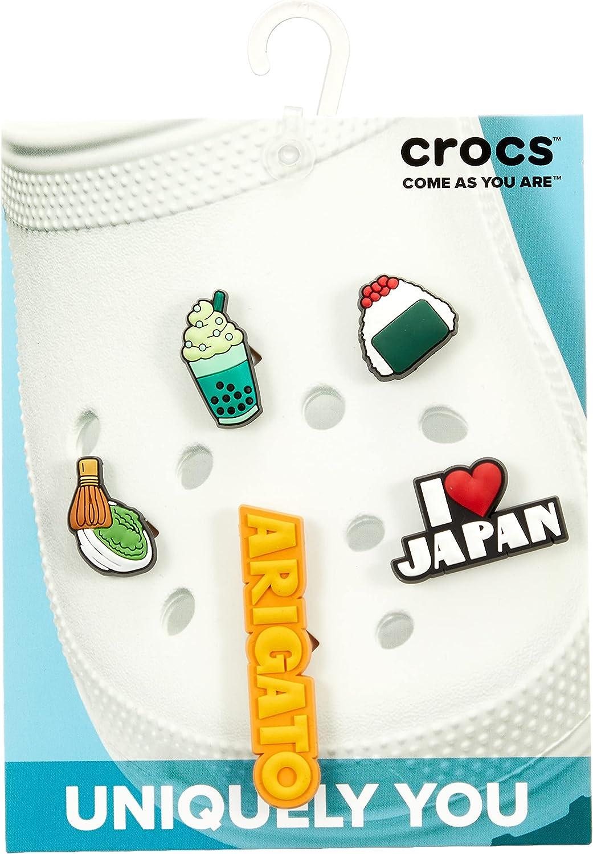 CROC Japanese Celebration 5 Pack, Encantos para zapatos Unisex Adulto, multicolor, Talla única