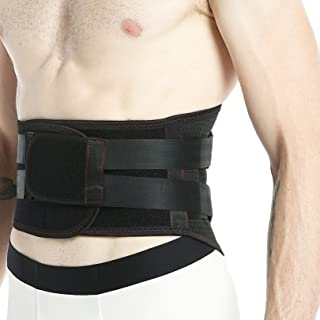 Neotech Care Back Brace - Breathable & Adjustable Support for Lower Back Pain - Double Pull Compression Straps - Lifting Spine Protection Vest - Black - Size L