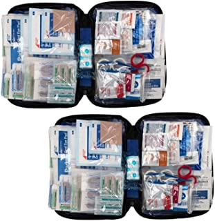 299 Piece All-Purpose First Aid Kit, Soft Case (2 Pack)