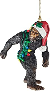 Design Toscano DB383084 Bigfoot, the Christmas yeti with Sabta's hat Funny Christmas tree decoration, polyresin, full colo...