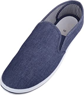 ABSOLUTE FOOTWEAR Mens Casual Slip On Canvas Summer/Holiday Pumps/Trainers/Plimsolls