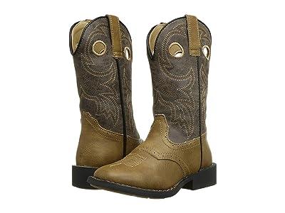 Roper Kids Daniel (Toddler/Little Kid) (Tan Saddle Vamp/Tumbled Brown Shaft) Cowboy Boots