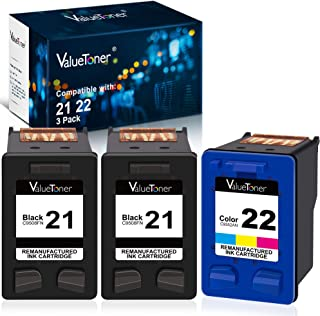 Best Valuetoner Remanufactured Ink Cartridge Replacement for HP 21 C9351AN & 22 C9352AN for DESKJET F4180 F2210 D1560, OFFICEJET 4315 J3640, FAX 3180, PSC 1401 Printer (2 Black, 1 Tri-Color, 3 Pack) Review