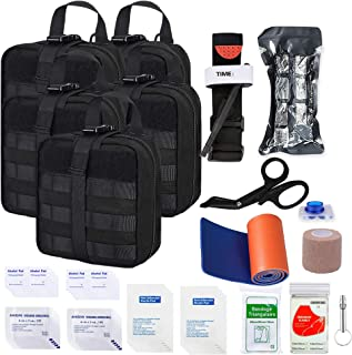 Image of GRULLIN Survival First Aid Kit, Tactical Molle EMT IFAK Pouch Emergency First Aid Survival Kits Trauma Bag Outdoor Gear for Camping Hiking Hunting Travel Car Adventures