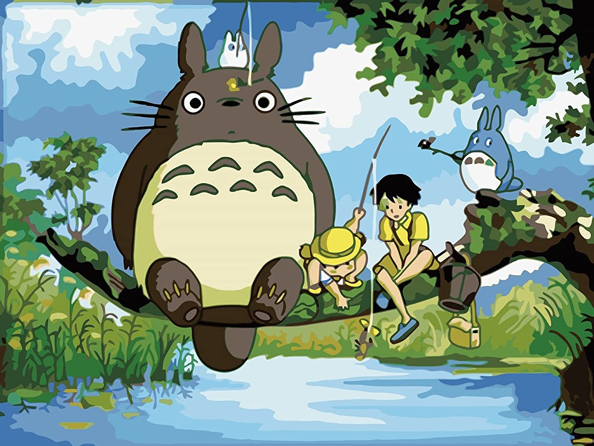Colour Talk Diy oil painting, paint by number kit- My Neighbor Totoro 1620 inch.