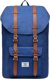 KAUKKO Sac à Dos pour 15 Pouces Ordinateur Portable pour Hommes et Femmes 26 * 17 * 47 cm, 20.77 L (Bleu JNL-D1-12-FBA)