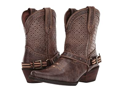 Durango 8 Crush Perfed Flag Harness Bootie (Bronze Brown) Women