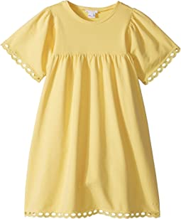 Chloe Kids - Milano Short Sleeve Dress with Percale Details (Big Kids)
