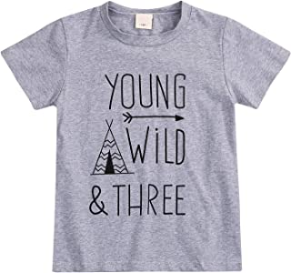 young wild and three boy shirt