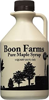 Boon Farms 100% Pure Maple Syrup, Grade A Dark (Formerly Grade B), 1 Quart - 32 Ounces