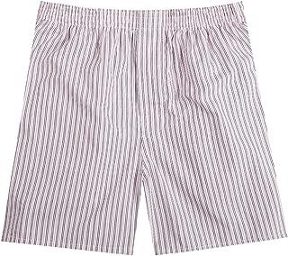 Men's Woven Boxer Shorts Cotton Trunks Button Plaid Briefs Checkered Underwear B-01