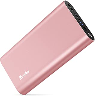 KYOKA モバイルバッテリー 20000mAh 大容量 軽量 Smart IC機能 2.0A急速充電 【Micro&Type C/3台同時充電】合計3.0A出力 2USBポート 防災グッズ iPhone&Android対応 (ローズゴールド)
