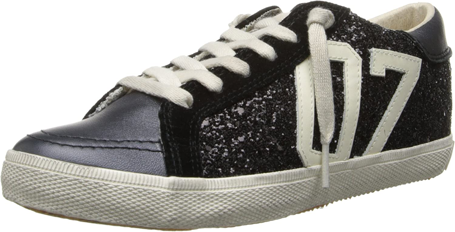 KIM&ZOZI Women's Glitter Low Fashion Sneaker