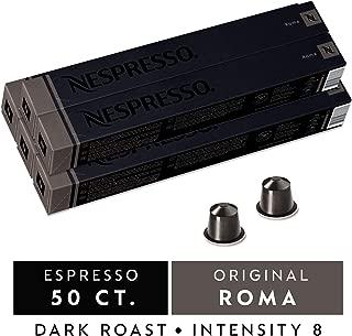 Nespresso OriginalLine Capsules, Roma Intenso Nespresso Pods, Brews 1.35 oz Nespresso Coffee