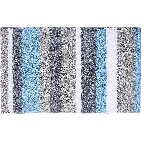40 x 60 cm Marine Blau Homaxy Badezimmerteppich Badematte rutschfest Waschbar Badteppich Weiche Mikrofaser Hochflor Badvorleger
