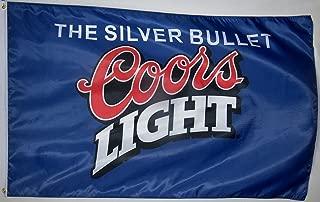 Coors Light Blue Beer Flag 3' X 5' Indoor Outdoor Silver Bullet Banner (Original Version)