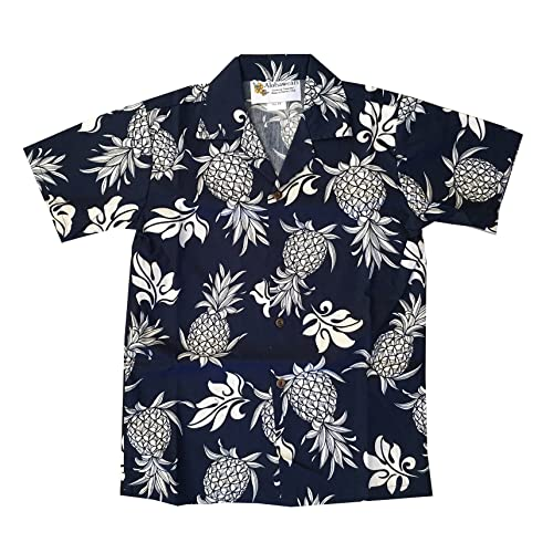 1b7fc5df3d70 Boy's Pineapple Hawaiian Cruise Luau Aloha Shirt