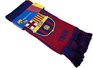 STER-TSP Barcelona FC Authentic Knit Scarf Soccer Double Sided Knitted Scarf Blue