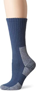 Thorlos Women's Thick Padded Trail Hiking Socks, Crew, Dust Blue, Small (Youth Shoe Size 3.0-4.5, Women's Shoe Size 5.0-6.5)